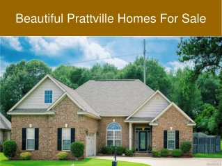 Beautiful Prattville Homes For Sale