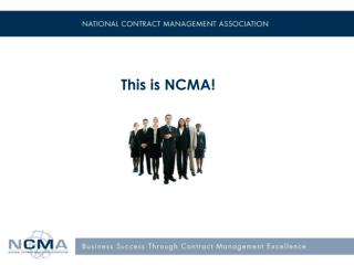This is NCMA!