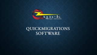 QuickMigrations for OST to PST