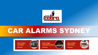Provide Utmost Security to Your Car by Using Cobra Car Alarms