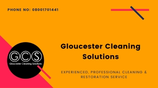 Experienced, Professional Cleaning & Restoration Service - Gloscleansolutions.co.uk