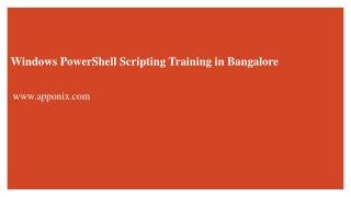 Power Shell Training
