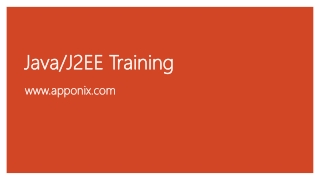 Java and J2EE Training