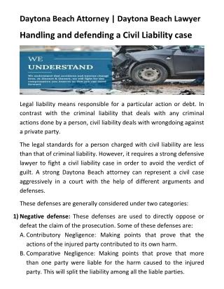 Daytona Beach Attorney | Daytona Beach Lawyer