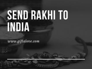 Send Rakhi to India Online (Mumbai, Bangalore, Pune) - GiftaLove