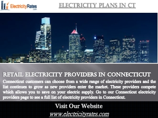 Electricity Plans In CT