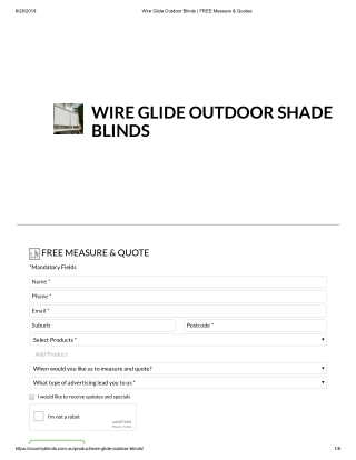 Top Quality Wire Glide Outdoor Blinds in Australia - Coutry Blinds