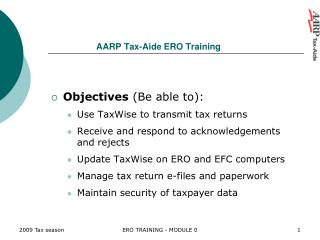 AARP Tax-Aide ERO Training