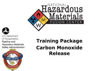 Training Package Carbon Monoxide Release