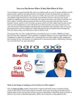 Ingredients of Para-Axe Plus ?