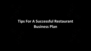 Tips For A Successful Restaurant Business Plan