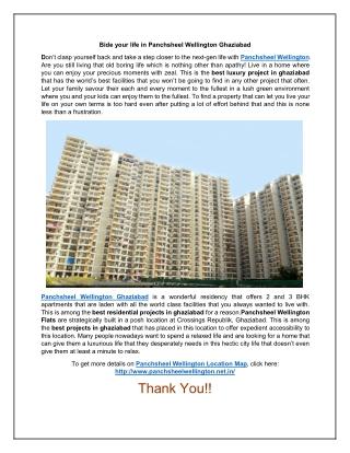 Panchsheel Wellington Residential project in Ghaziabad