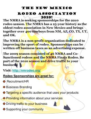 The New Mexico  Rodeo Association 2010!