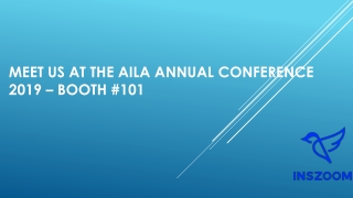 Meet us at the AILA Annual Conference 2019 - Booth #101 | INSZoom