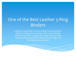 One of the Best Leather 3-Ring Binders
