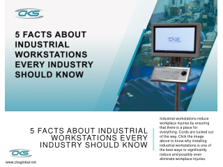 5 Facts About Industrial Workstations Every Industry Should Know