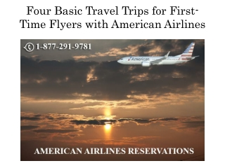 Four Basic Travel Trips for First-Time Flyers with American Airlines