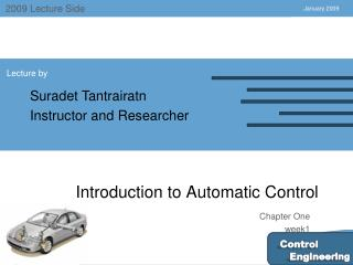 Introduction to Automatic Control
