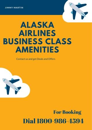 Alaska Airlines Business Class Amenities