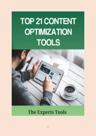 Top 21 Content Optimization Tools