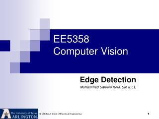 EE5358 Computer Vision