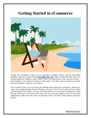 Getting Started in eCommerce   eBusiness Guru