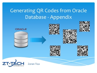 Generating QR C odes from Oracle Database - Appendix