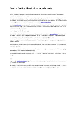 BambooFlooring:Ideasforinteriorandexterior