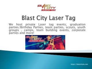 Laser Tag Game Los Angeles for Fun, Event, Party?