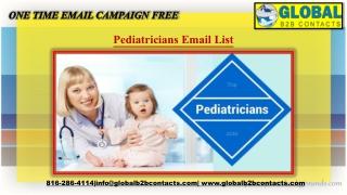 Pediatricians EmailList
