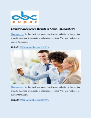 Company Registration Website in Kenya | Abcexpat.com