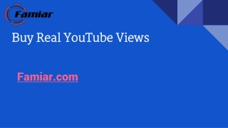 Buy Real YouTube Views With Instant Delivery Guaranteed.