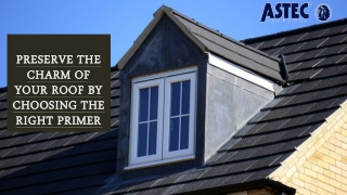 Preserve the Charm of your Roof by Choosing the Right Primer