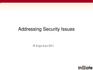 Addressing Security Issues