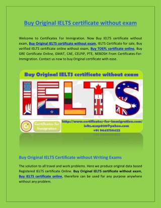 Buy Original IELTS certificate without exam