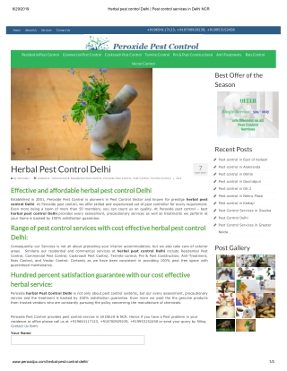 Herbal Pest Control Delhi