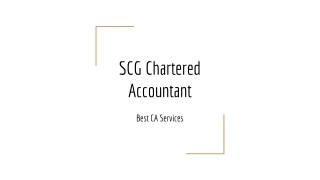 SCG Chartered Accountant | Best Chartered Accountant Services In Ghana