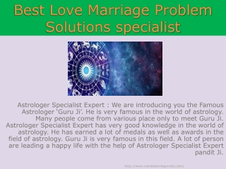best Love Marriage Problem Solutions specialist