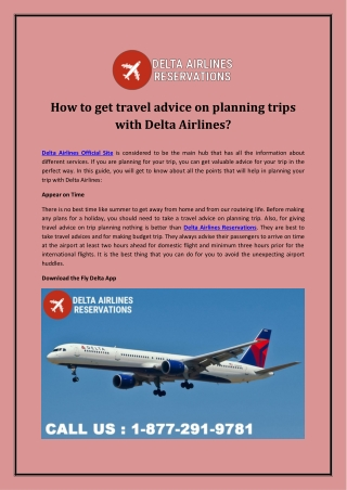How to get travel advice on planning trips with Delta Airlines?