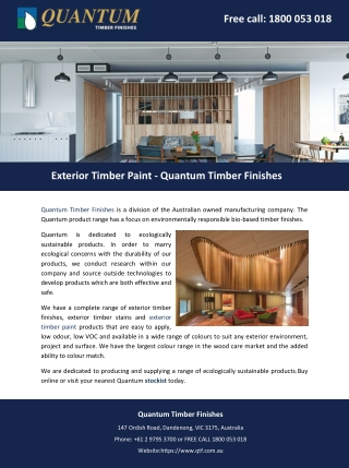 Exterior Timber Paint - Quantum Timber Finishes