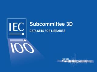 Subcommittee 3D DATA SETS FOR LIBRARIES