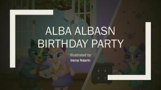 Alba Albasn Birthday Party   Irana Nasrin   Children Book Illustration