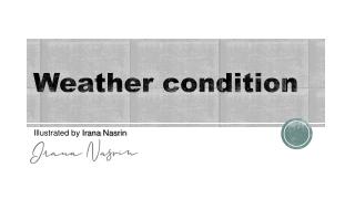 Weather condition   Irana Nasrin   Children Book Illustration   Kids Illustration