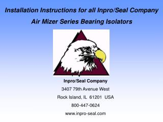Installation Instructions for all Inpro