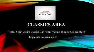 Buy classic cars online