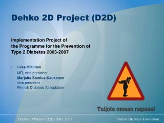 Dehko 2D Project (D2D)