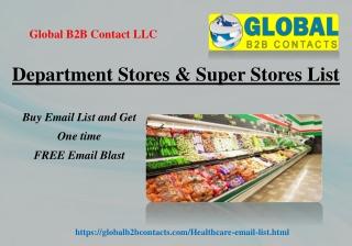 Department Stores & Super Stores List