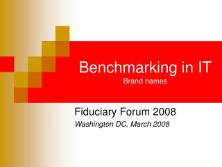 Benchmarking in IT Brand names