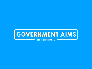 Government Aims in a Nutshell