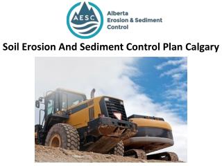 Soil Erosion And Sediment Control Plan Calgary